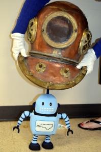 Kelvin Tries On Dive Helmet