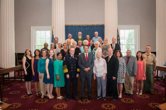 Kelli with Governor's Medallion Award Recipients